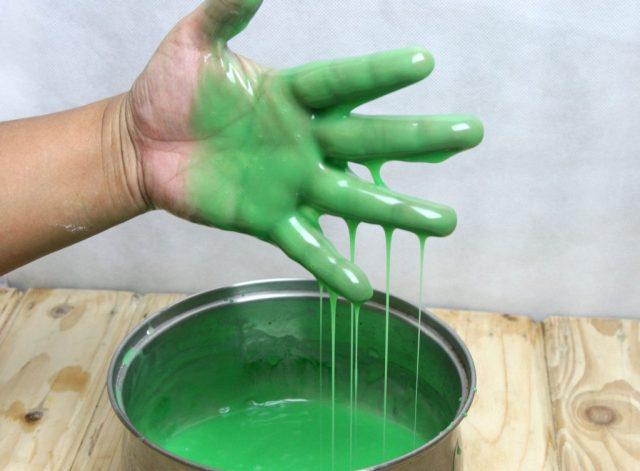 Жидкий слайм сделанный своими руками